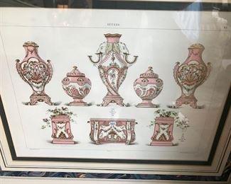 Sevres porcelain lithograph