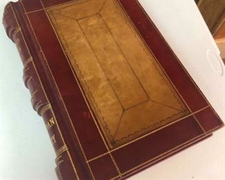 Rare Huge Antique Leather Bound Book