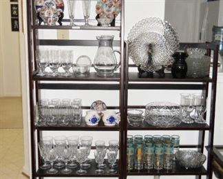 Orrefor vases, Princess House, Wedgwood, etc.