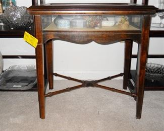 Curio table with Limoge, etc.