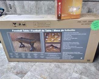 New Foosball Table.