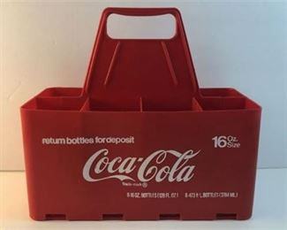 Lot 811 Vintage 1960's Coca Cola Caddy Carrying Case Coke 16 oz 8 pack Plastic Carrier