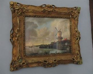 Antique Frame and Print.