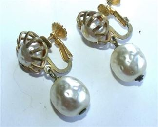 Lot 013 VTG Miriam Haskell Earrings