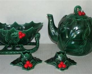Lot 027 VTG Lefton Christmas set