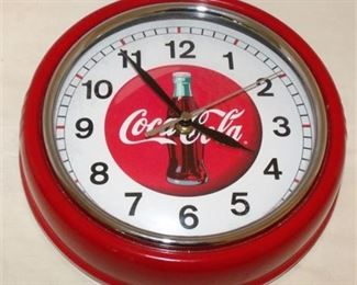 Lot 052 Metal Coca Cola Clock