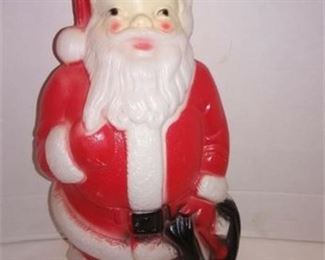 Lot 096 1968 Blow Mold Santa