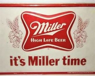 Lot 100 Metal Beer sign