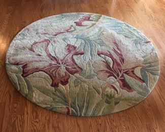 """KAS Sparta 5' 6"""" round wool rug"""