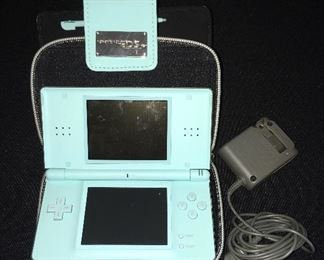 Nintendo DS with case and charger