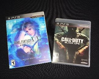 PS3 games:  Final Fantasy X|X-2; Call of Duty Black Ops