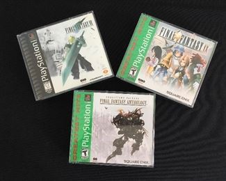Playstation Final Fantasy games:  VII; IX; and Anthology