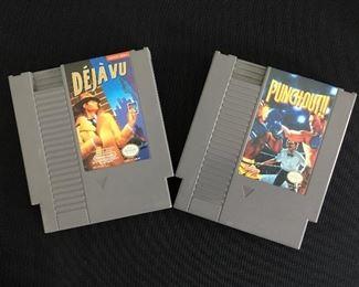 Nintendo games: Deja Vu; Punch Out!!