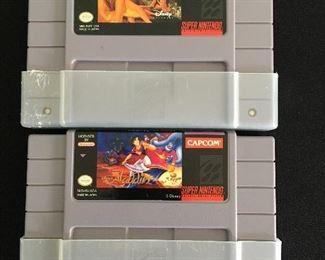 Nintendo games:  Lion King; Aladdin