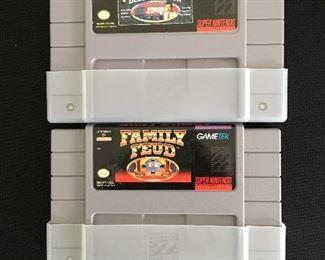 Nintendo games:  Jeopardy; Family  Feud
