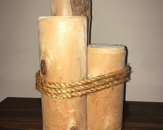 Small decorative wood pilings