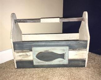 Decorative wood tool box