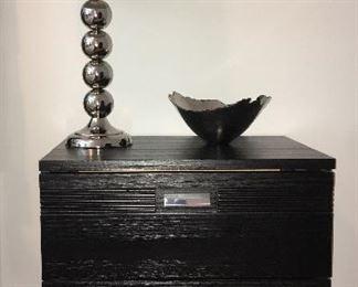 Rotta night stand; lamp; bowl