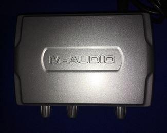 M-Audio recording interface