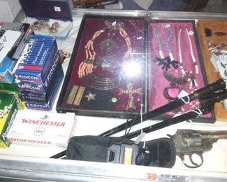 Ivers Johnson 5-Shot Revolver, Russian Bayonets, Ammunition