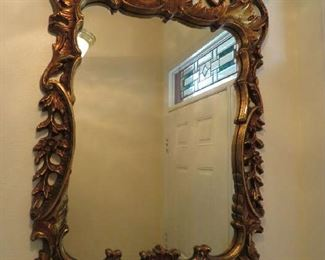 Large Gilded Wall Mirror $50