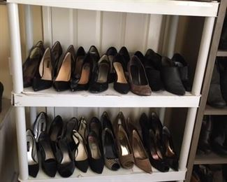 Huge selection of ladies shoes. Many never worn