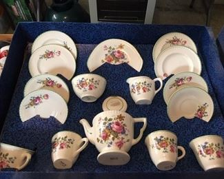 """Two Vintage """"Amersham"""" decorated Tea sets. Made in England still in original boxes"""