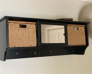 Hanging hallway storage cabinet. PERFECT.