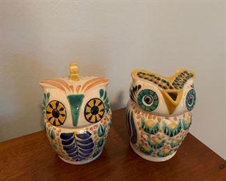 MCM ceramic owls. Lids removable.