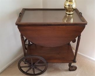Antique rolling cart.  In the family for almost one hundred years....presale $125
