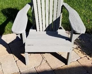 Pair of grey Adirondack Chairs with table.   All three pieces $100