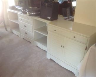 4 storage cabinets......set individually...$25 each.