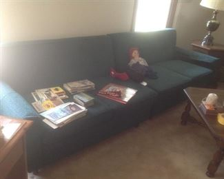 Two piece green sofa....$50.  Presale available