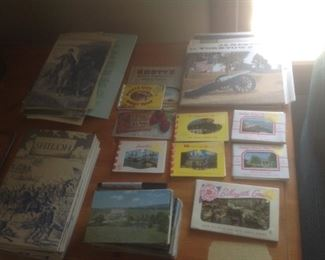 Collection of vintage travel items