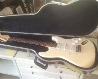Fender guitar.....available presale with amp