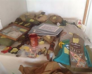 Girl and Boy Scout items