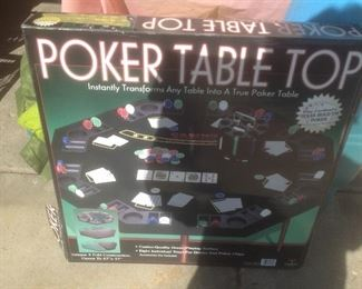 Table top poker game