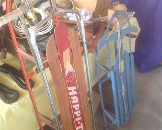 Vintage sleds