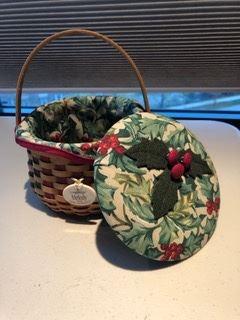 Christmas basket and lid