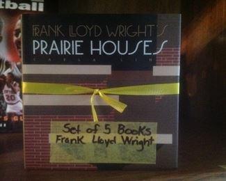 Set of five wonderful Frank Lloyd Wright books.