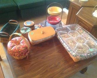 Variety of Longaberger baskets