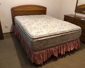 Queen Headboard and Bed