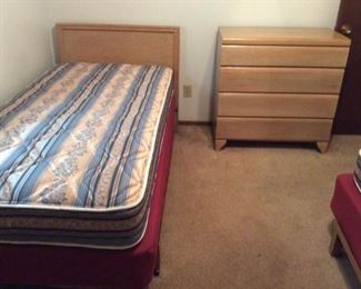 Twin Bed and Four Drawer Dresser I