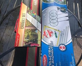 New Croquet Set, New Volley Ball and Badminton Set