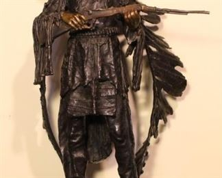 """Bronze sculpture """" War"""" after C. Kauba (1865-1922)."""