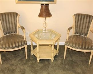 Pair of lovely Baker arm chairs.