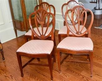 7. Set of Four 4 Federal Style Dining Chairs