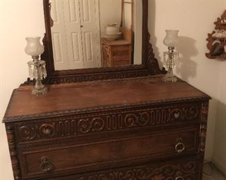Antique dresser with mirror