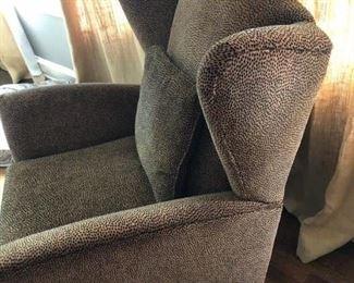 Cheetah Print Chair and Recliner by Norwalk