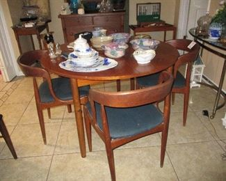 Made in Denmark drop leaf and 4 chairs